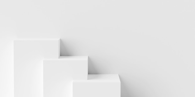 Szene des podiums der minimalen geometrischen form für das 3d-rendering der produktwerbung