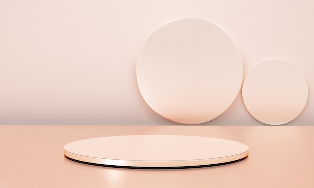 Szene mit podium für die präsentation im minimalistischen stil 3d-render abstraktes hintergrunddesign