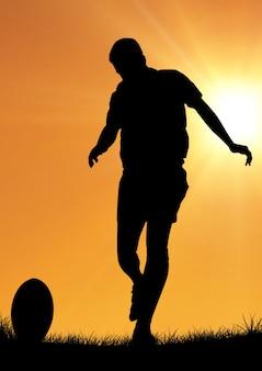 Szenen schreibtisch rugby nahaufnahme