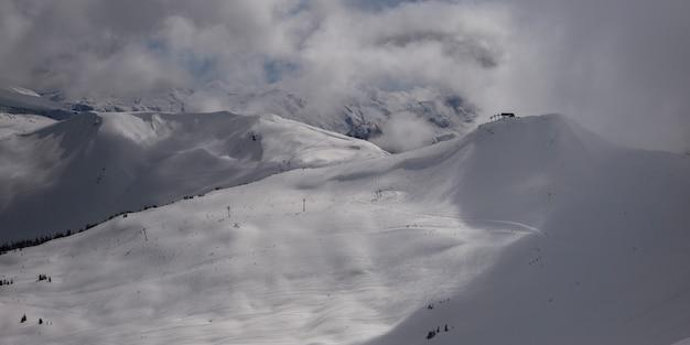 Szenische ansicht des schnees deckte berge, pfeifer, britisch-columbia, kanada ab