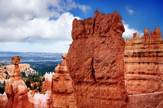 Szenische ansicht in bryce canyon national park in utah, usa