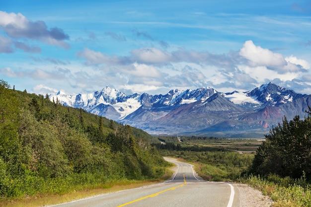 Szenische autobahn in alaska, usa