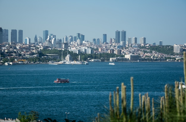 Szenischer panoramablick von istanbul, die türkei