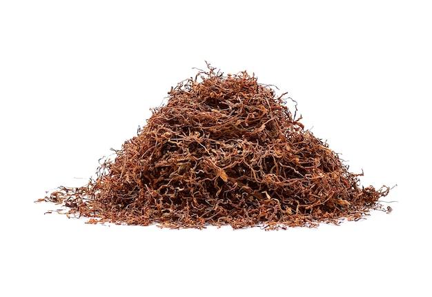 Tabak lokalisiert auf weißem hintergrund