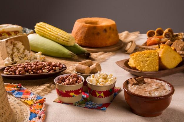 Tabelle der brasilianischen festa junina