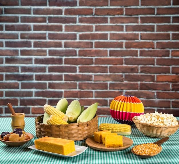 Tabelle von brasilianischem festa junina