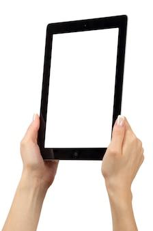 Tablet-computer mit leerem bildschirm