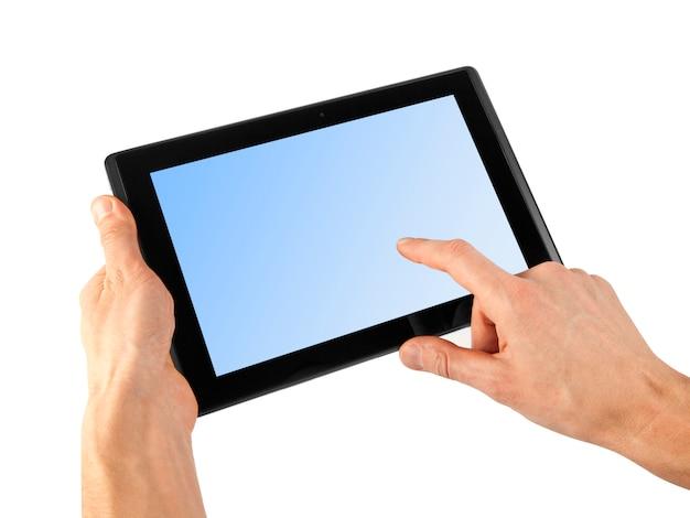 Tablette in der hand