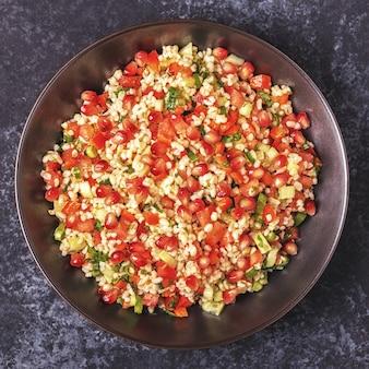 Tabouleh-salat, traditionelles arabisches gericht.