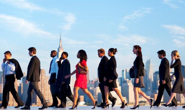 Tägliche pendler von new york.