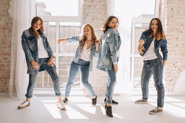 Tänzer-team im studio