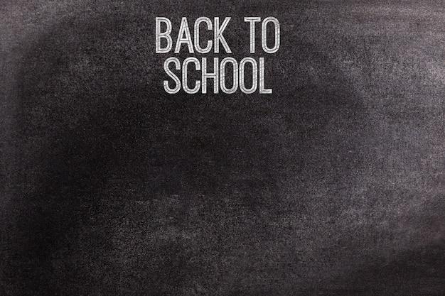 Tafel mit dem text zurück zur schule