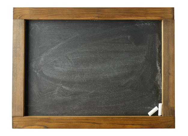 Tafel mit holzrahmen isoliert