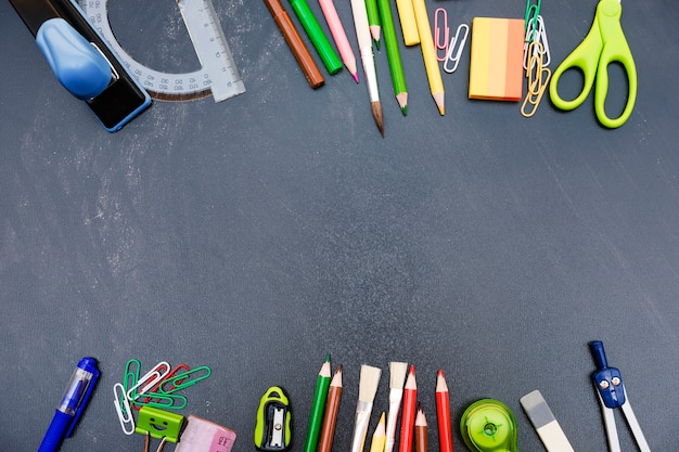 Tafel mit satz briefpapier