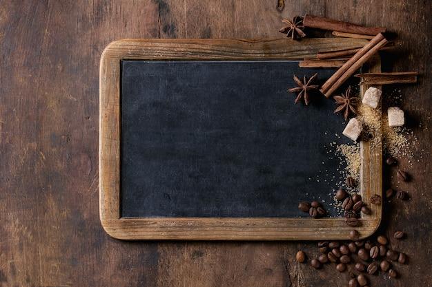 Tafel und kaffee