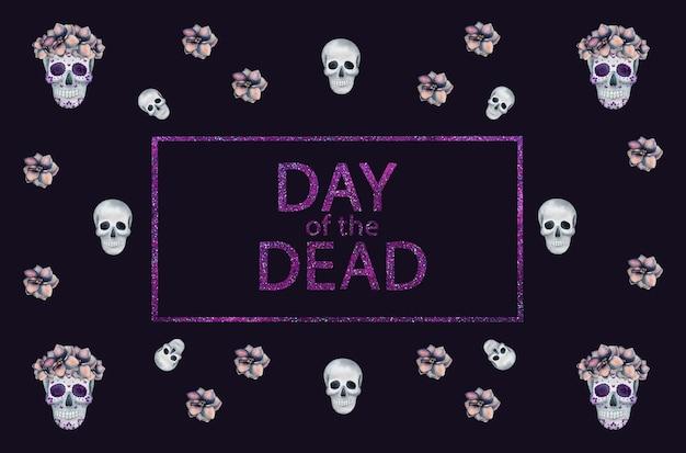 Tag der toten. schöne aquarellzeichnung. nahaufnahme, keine leute