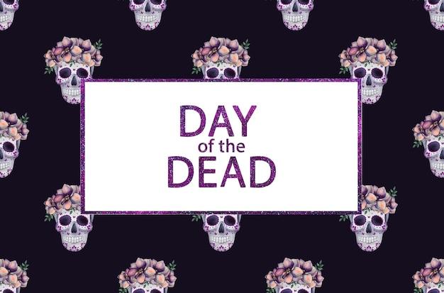 Tag der toten. schöne aquarellzeichnung