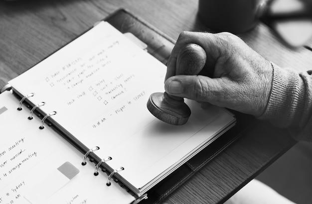 Tagebuch-planer, zum des notizbuch-konzeptes aufzuführen