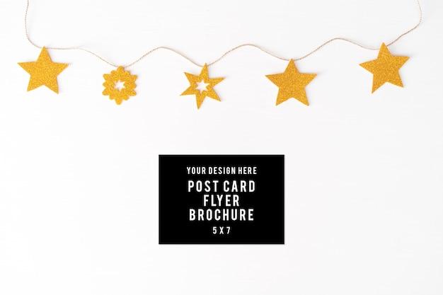 Tagebuch postkarte flyer weihnachtszusammensetzung hintergrund. tapete, tannenzapfen, dekoration
