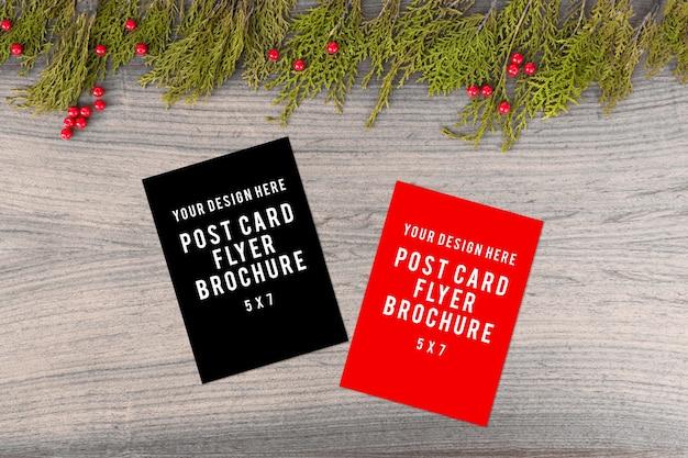 Tagebuchpostkartenflieger weihnachtszusammensetzung.