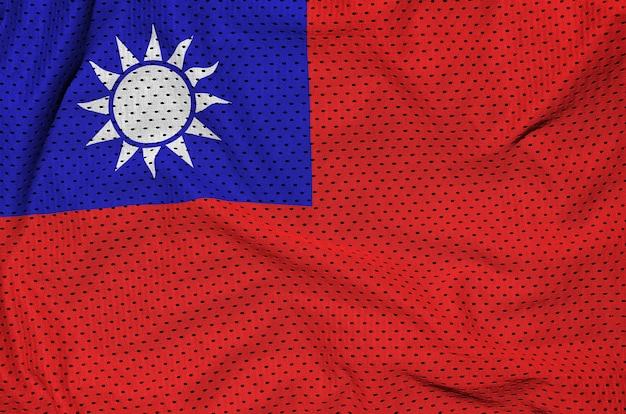 Taiwan-flagge gedruckt auf einer sportkleidung aus polyester-nylon