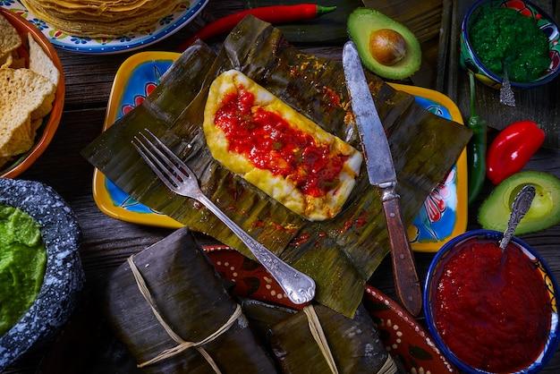 Tamale mexikanisches rezept mit bananenblättern