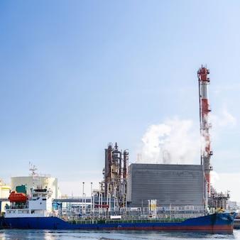 Tanker boot chemiefabrik