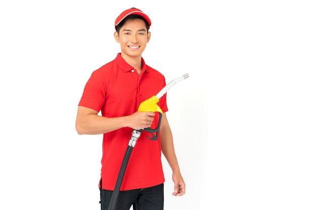 Tankstellenarbeiter und service