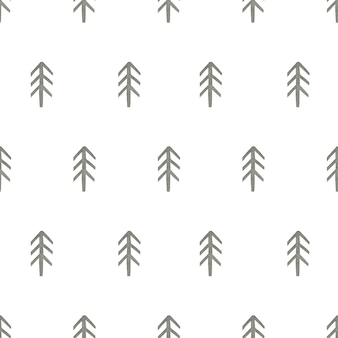 Tannenbaum aquarell nahtlose muster im skandinavischen stil