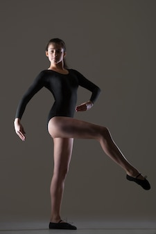 Tanzende frau porträt