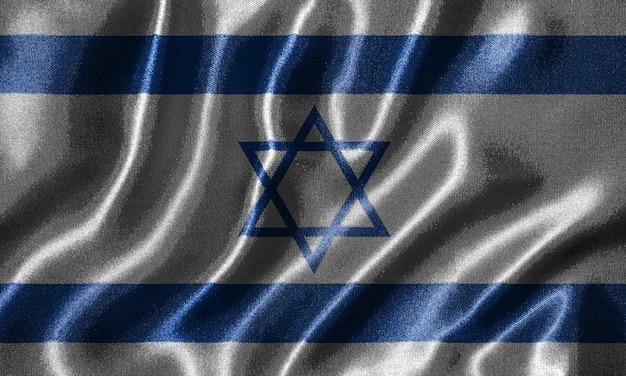 Tapete durch israel-flagge und wellenartig bewegende flagge durch gewebe