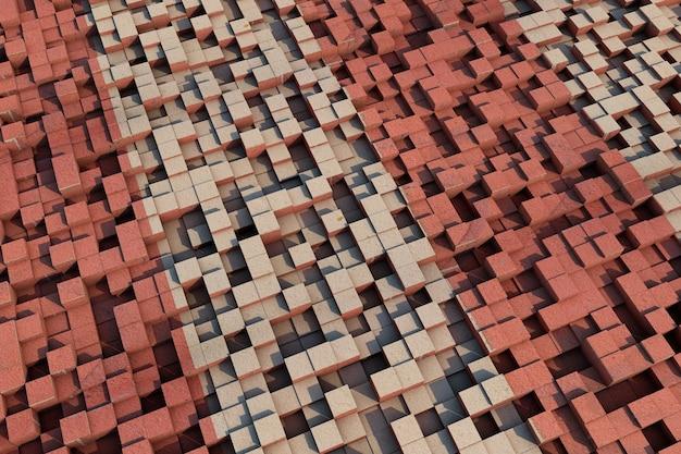 Tapete mit dreidimensionalen würfeln abstrakter hintergrund