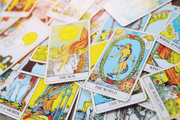 Tarotkarten gesetzt