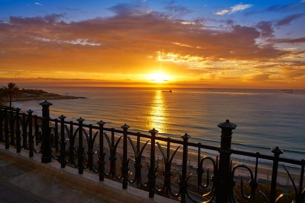 Tarragona balkon von europa bei sonnenaufgang
