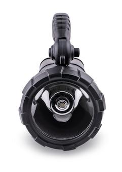 Taschenlampe lokalisiert auf weißem hintergrund