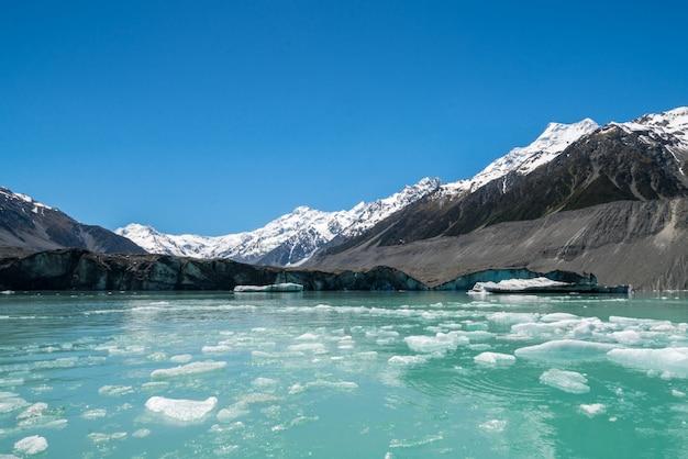 Tasman gletscher, neuseeland