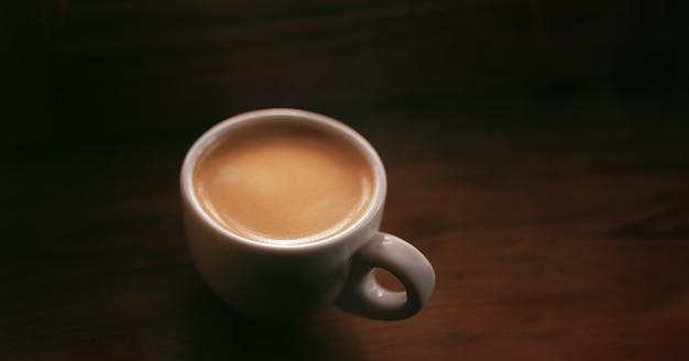 Tasse espresso nahaufnahme - draufsicht