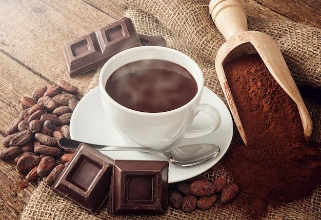 Tasse heiße schokolade