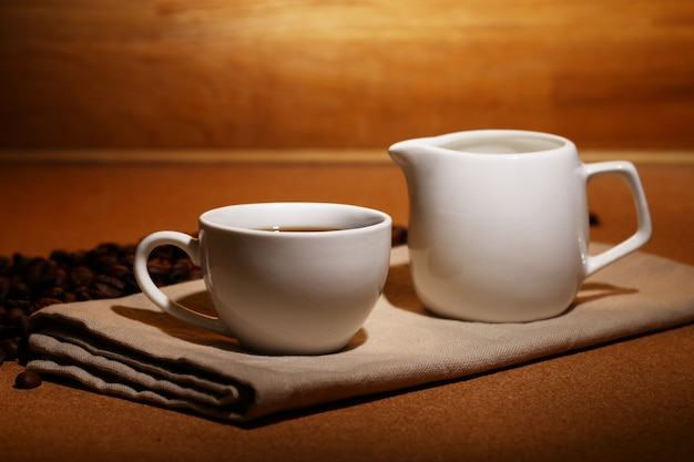 Tasse heißen kaffee