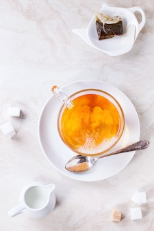 Tasse heißen tee
