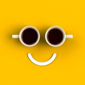 Tasse kaffee in form von lächeln