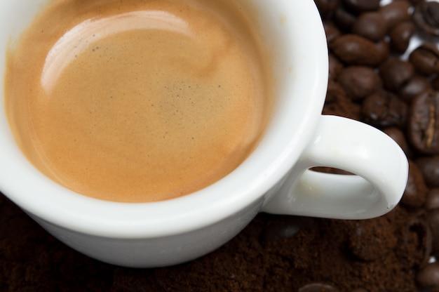 Tasse kaffee, nahaufnahme