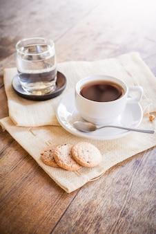 Tasse kaffee und keks