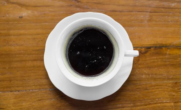 Tasse kaffee von oben betrachtet
