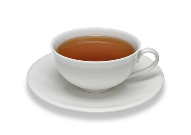 Tasse tee lokalisiert auf weißem hintergrund