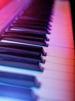Tastatur in übereinstimmung mit flacher schärfentiefe