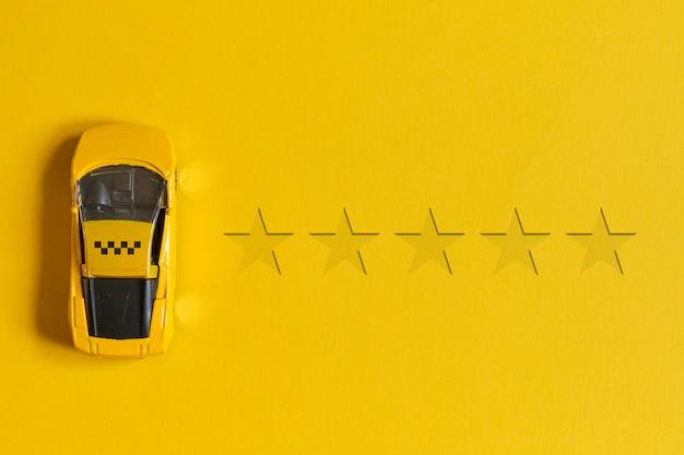 Taxi-bewertungskonzept von 5 sternen