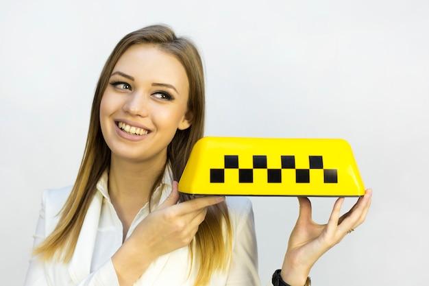 Taxi zeichen.