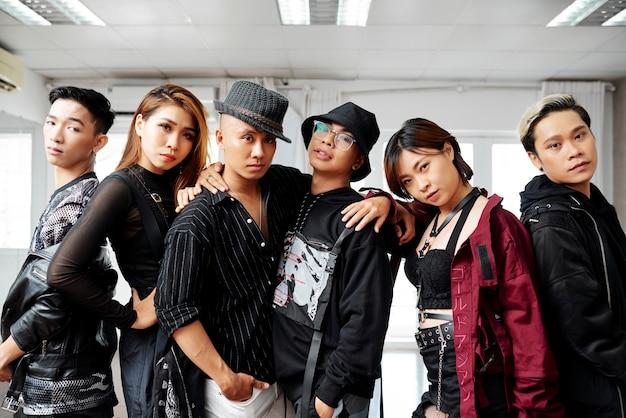 Team von professionellen tänzern