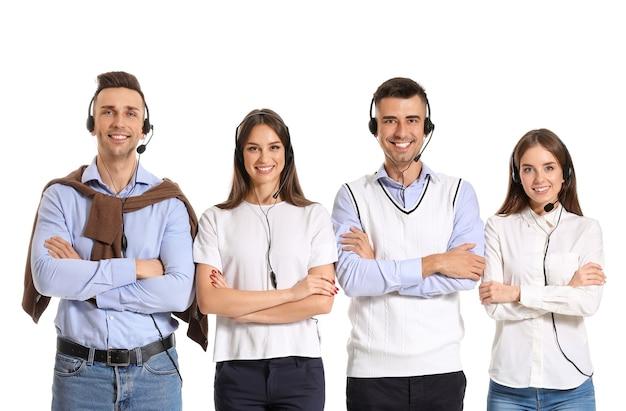 Team von technischen supportmitarbeitern